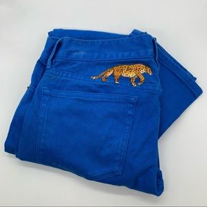 J.CREW Toothpick Skinny Jeans in Royal Blue